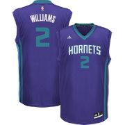 adidas Youth Charlotte Hornets Marvin Williams #2 Road Purple Replica Jersey