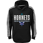 adidas Youth Charlotte Hornets Performance Black Pullover Hoodie