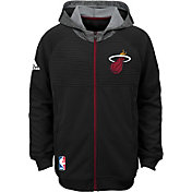 adidas Youth Miami Heat Pre-Game Black Hoodie