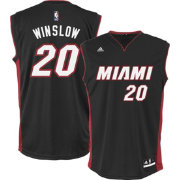 adidas Youth Miami Heat Justise Winslow #20 Road Black Replica Jersey