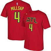 adidas Youth Atlanta Hawks Paul Millsap #4 Red T-Shirt