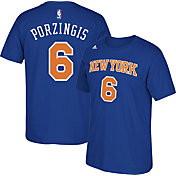 adidas Youth New York Knicks Kristaps Porzingis #6 Royal T-Shirt