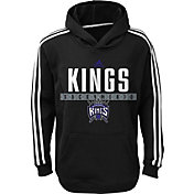 adidas Youth Sacramento Kings Performance Black Pullover Hoodie