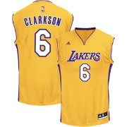 adidas Youth Los Angeles Lakers Jordan Clarkson #6 Home Gold Replica Jersey