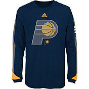 adidas Youth Indiana Pacers Navy Long Sleeve Shirt