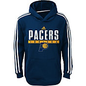 adidas Youth Indiana Pacers Performance Navy Pullover Hoodie