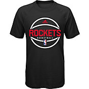 adidas Youth Houston Rockets climalite Black T-Shirt