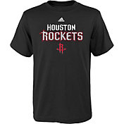 adidas Youth Houston Rockets Meshing Around Black T-Shirt