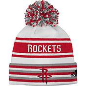adidas Youth Houston Rockets Cuffed Pom Knit Hat