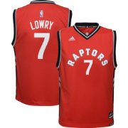 adidas Youth Toronto Raptors Kyle Lowry #7 Road Red Replica Jersey