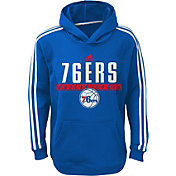 adidas Youth Philadelphia 76ers Performance Royal Pullover Hoodie