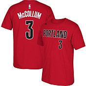 adidas Youth Portland Trail Blazers C.J. McCollum #3 Red T-Shirt
