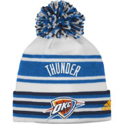 adidas Youth Oklahoma City Thunder Cuffed Pom Knit Hat