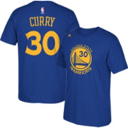 adidas Youth Golden State Warriors Steph Curry #30 Royal Performance T-Shirt