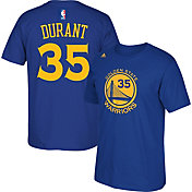 adidas Youth Golden State Warriors Kevin Durant #35 Royal Performance T-Shirt