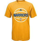 adidas Youth Golden State Warriors climalite Gold T-Shirt