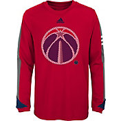 adidas Youth Washington Wizards Red Long Sleeve Shirt