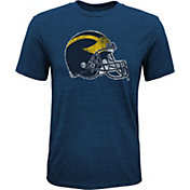 Gen2 Youth Michigan Wolverines Blue Helmet T-Shirt