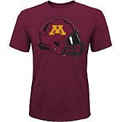 Gen2 Youth Minnesota Golden Gophers Maroon Helmet T-Shirt