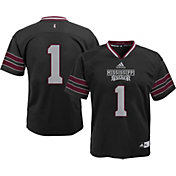 adidas Youth Mississippi State Bulldogs Grey #1 Replica Jersey
