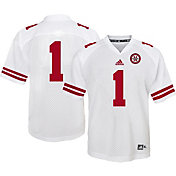 adidas Youth Nebraska Cornhuskers White #1 Replica Jersey