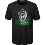 adidas Youth NC State Wolfpack High Impact Black T-Shirt