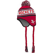 adidas Youth Houston Rockets Tassel Pom Knit Hat