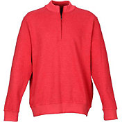 Greg Norman Men's Contemporary Quarter-Zip Mock Golf Sweater