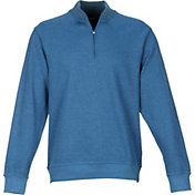 Greg Norman Men's Contemporary Quarter-Zip Mock Golf Sweater