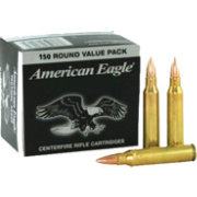 Federal American Eagle 5.56x45mm NATO FMJ 150 Pack Rifle Ammunition – 55 Grain