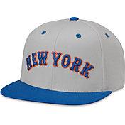 American Needle Men's New York Mets Grey Scripteez Hat