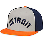 American Needle Men's Detroit Tigers Grey/Navy Scripteez Hat