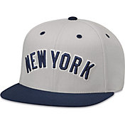 American Needle Men's New York Yankees Grey Scripteez Hat