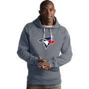 Antigua Men's Toronto Blue Jays Grey Victory Pullover