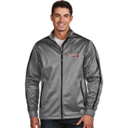Antigua Men's Atlanta Braves Grey Golf Jacket