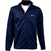 Antigua Men's Atlanta Braves Full-Zip Navy Golf Jacket
