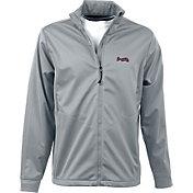 Antigua Men's Atlanta Braves Full-Zip Silver Golf Jacket