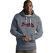 Antigua Men's Atlanta Braves Grey Victory Pullover
