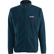 Antigua Men's Atlanta Braves Full-Zip Navy Ice Jacket