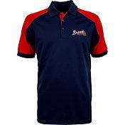 Antigua Men's Atlanta Braves Century Navy/Red Polo