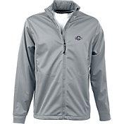 Antigua Men's Milwaukee Brewers Full-Zip Silver Golf Jacket