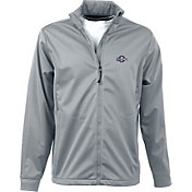 Antigua Men's Milwaukee Brewers Full-Zip Silver Golf Jacket