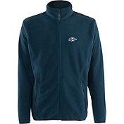 Antigua Men's Milwaukee Brewers Full-Zip Navy Ice Jacket