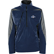 Antigua Men's Milwaukee Brewers Pullover Navy Discover Jacket