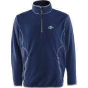 Antigua Men's Milwaukee Brewers Quarter-Zip Navy Ice Pullover