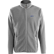 Antigua Men's Milwaukee Brewers Full-Zip Silver Ice Jacket