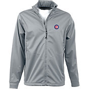 Antigua Men's Chicago Cubs Full-Zip Silver Golf Jacket