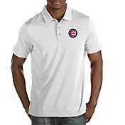 Antigua Men's Chicago Cubs White Quest Performance Polo