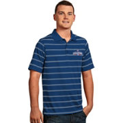 Antigua Men's 2016 World Series Champions Chicago Cubs Royal Striped Deluxe Performance Polo