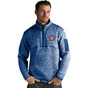 Antigua Men's Chicago Cubs Royal Fortune Half-Zip Pullover